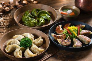 Ravioli giapponesi (Gyoza)ripieni di pulled pork